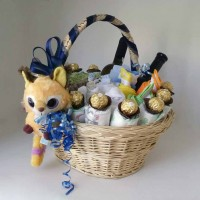 B - Baby's Deluxe Welcome Home Baby Basket